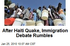 After Haiti Quake, Immigration Debate Rumbles