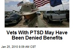 Vets With PTSD May Have Been Denied Benefits