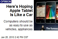 Here's Hoping Apple Tablet Is Like a Car