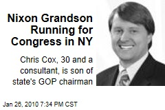 Nixon Grandson Running for Congress in NY