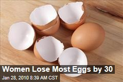 Women Lose Most Eggs by 30