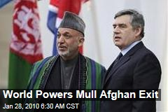 World Powers Mull Afghan Exit