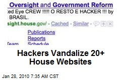 Hackers Vandalize 20+ House Websites