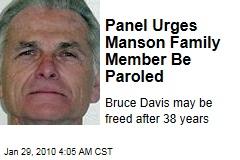 Panel Urges Manson Family Member Be Paroled