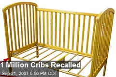 1 Million Cribs Recalled