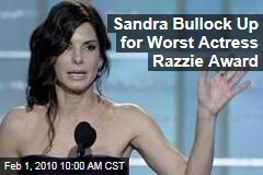 Sandra Bullock Up for Worst Actress Razzie Award
