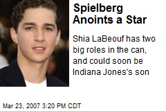 Spielberg Anoints a Star