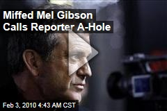 Miffed Mel Gibson Calls Reporter A-Hole