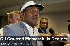 OJ Courted Memorabilia Dealers