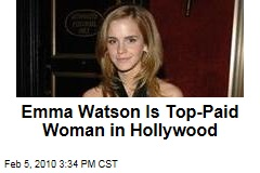 Emma Watson Is Top-Paid Woman in Hollywood