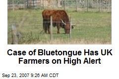 Case of Bluetongue Has UK Farmers on High Alert