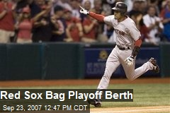 Red Sox Bag Playoff Berth