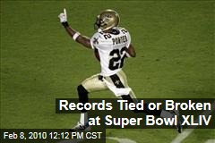 Records Tied or Broken at Super Bowl XLIV