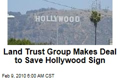 Land Trust Group Makes Deal to Save Hollywood Sign
