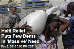 Haiti Relief Puts Few Dents in 'Massive' Need