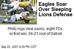 Eagles Soar Over Sleeping Lions Defense
