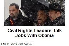 Civil Rights Leaders Talk Jobs With Obama