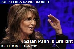 Sarah Palin Is Brilliant