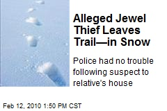 Alleged Jewel Thief Leaves Trail—in Snow