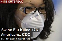 Swine Flu Killed 17K Americans: CDC