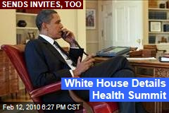 White House Details Health Summit