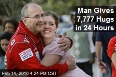 Man Gives 7,777 Hugs in 24 Hours