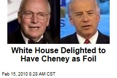 White House Delighted to Have Cheney as Foil