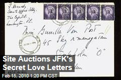 Site Auctions JFK's Secret Love Letters