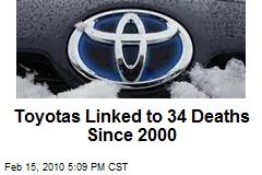 Toyotas Linked to 34 Deaths Since 2000