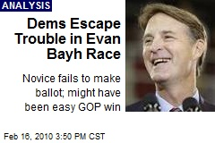 Dems Escape Trouble in Evan Bayh Race