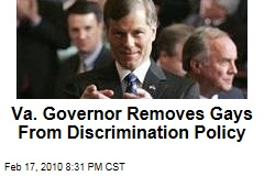 Va. Governor Removes Gays From Discrimination Policy