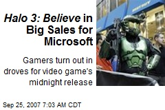 Halo 3: Believe in Big Sales for Microsoft