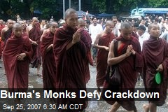 Burma's Monks Defy Crackdown