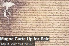Magna Carta Up for Sale