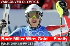 Bode Miller Wins Gold ... Finally