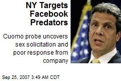 NY Targets Facebook Predators
