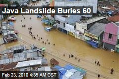 Java Landslide Buries 60