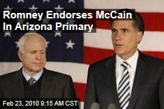 Romney Endorses McCain In Arizona Primary