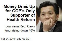 Money Dries Up for GOP's Only Supporter of Health Reform