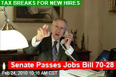 Senate Passes Jobs Bill 70-28