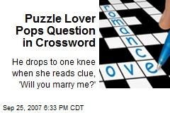 Puzzle Lover Pops Question in Crossword