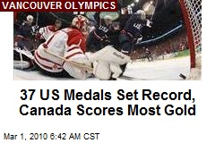 37 US Medals Set Record, Canada Scores Most Gold