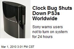 Clock Bug Shuts Down PS3s Worldwide