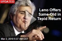 Leno Offers Same-Old in Tepid Return