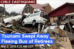 Tsunami Swept Away Fleeing Bus of Retirees