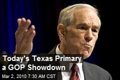 Today's Texas Primary a GOP Showdown
