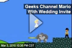 Geeks Channel Mario With Wedding Invite