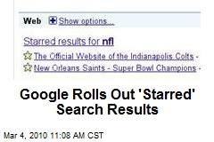 Google Rolls Out 'Starred' Search Results