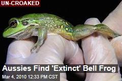 Aussies Find 'Extinct' Bell Frog