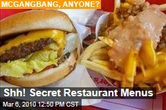 Shh! Secret Restaurant Menus